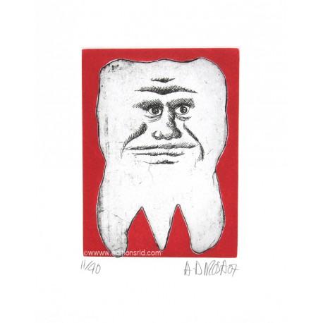 Dent N°20 gravure originale de Hervé Di Rosa