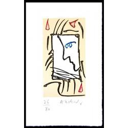 L'Oreille du mur - Eau-forte originale de Pierre Alechinsky