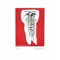 Dent N°15 gravure originale de Hervé Di Rosa