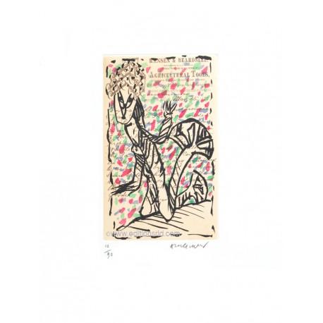 La jardinière gravure de Pierre Alechinsky