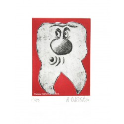 Dent N°14 gravure d'Hervé Di Rosa