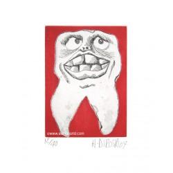Dent N°13 gravure de Hervé Di Rosa