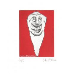 Dent N°12 gravure de Hervé Di Rosa