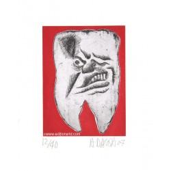Dent N°10 gravure de Hervé Di Rosa