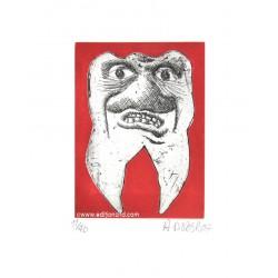 Dent N°9 gravure de Hervé Di Rosa