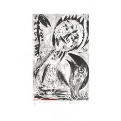 Chant du rossignol gravure de Carl-Henning Pedersen