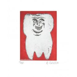 Dent N°7 gravure de Hervé Di Rosa