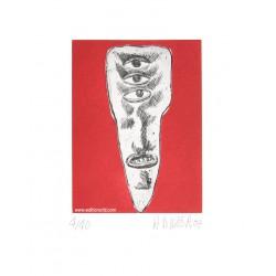 Dent N°5 gravure originale de Hervé Di Rosa