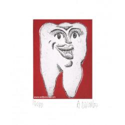 Dent N°1 gravure de Hervé Di Rosa
