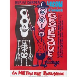 La leçon d'anatomie grotesque affiche de Hervé Di Rosa