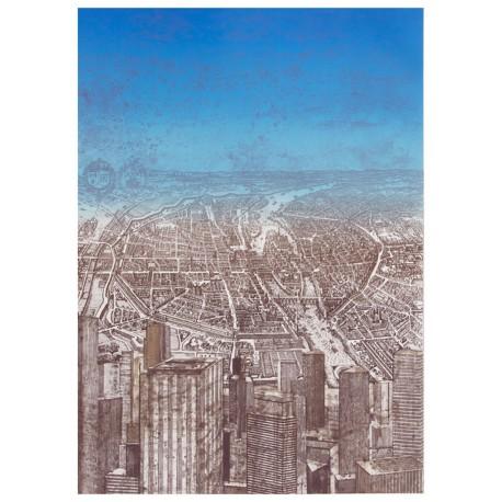 Paris de la Défense gravure de Gottfried Salzmann