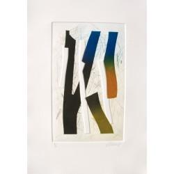 Visage d'ombre gravure de Bertrand Dorny