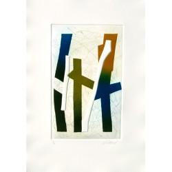 Visage d'ombre II gravure de Bertrand Dorny