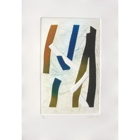 Visage d'ombre III gravure de Bertrand Dorny