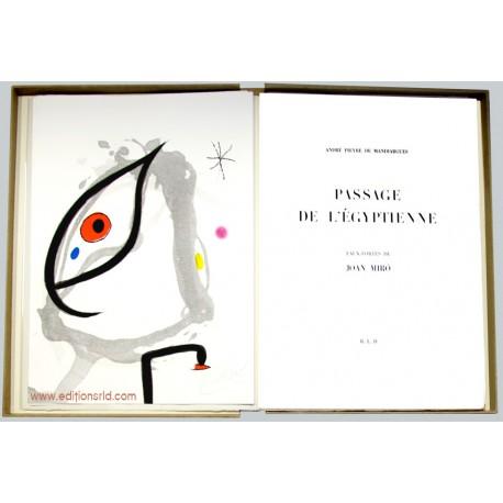 Passage de l'Égyptienne de A.P. de Mandiargues et Joan Miró / Frontispice signé