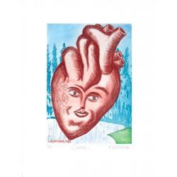 Le cœur - Gravure Hervé Dirosa