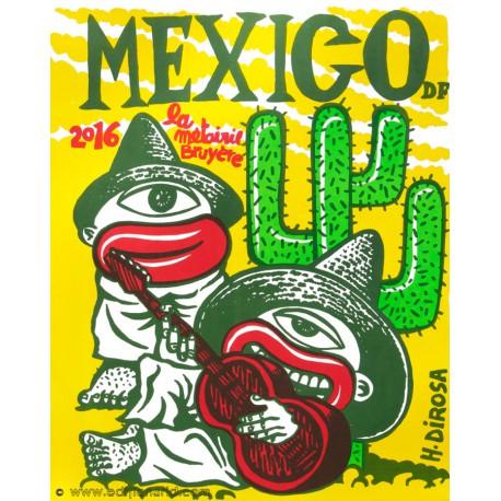 Mexico affiche en lithographie de Hervé Di Rosa