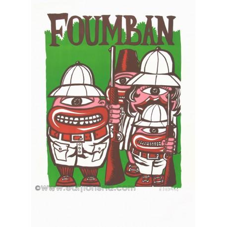Foumban lithographie originale de Hervé Di Rosa
