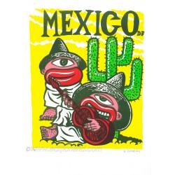 Mexico lithographie originale de Hervé Di Rosa