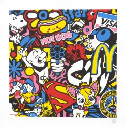 CITY OF STARS lithographie originale de Speedy Graphito