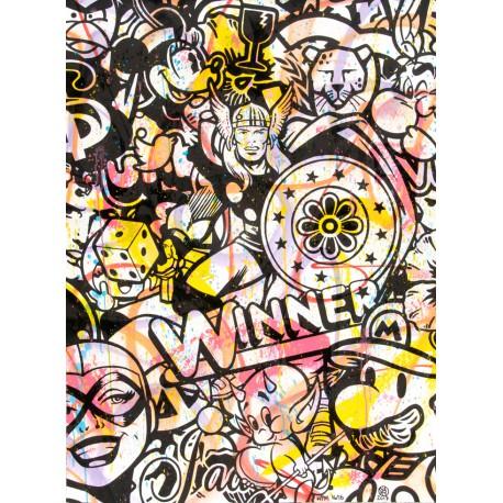 WINNER HMP 16/16 lithographie rehaussée de Speedy Graphito