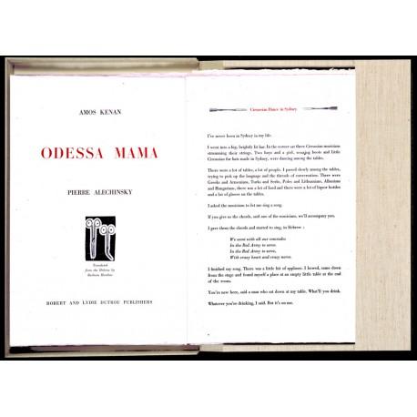 Odessa Mama Amos Kenan et Pierre Alechinsky