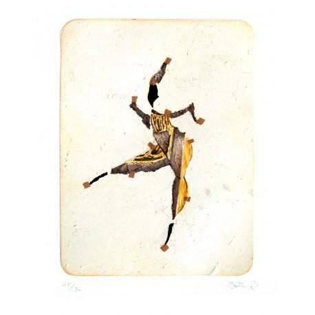 L'AFRICAINE gravure originale de René Botti