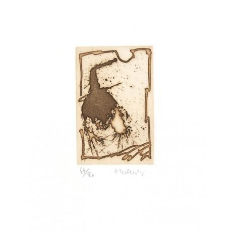 Gravure Pierre Alechinsky / Uniquement dans les exemplaire de 1 à 80.