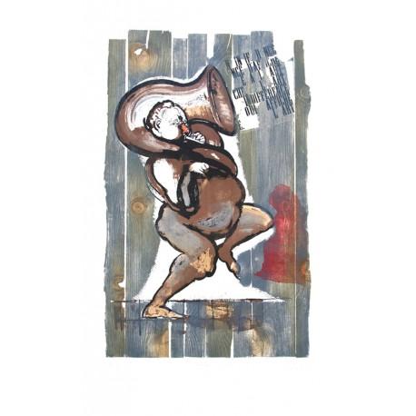 l'indifférence de l'art estampe originale de René Botti