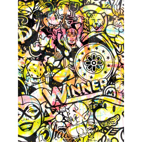 WINNER HMP 13/16 lithographie originale de Speedy Graphito