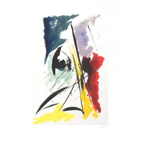 ÉCLOSION DU PRINTEMPS gravure originale de Jean Miotte