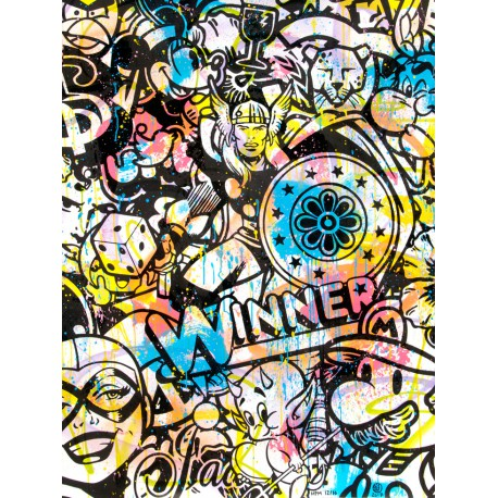 WINNER HMP 12/16 lithographie rehaussée de Speedy Graphito
