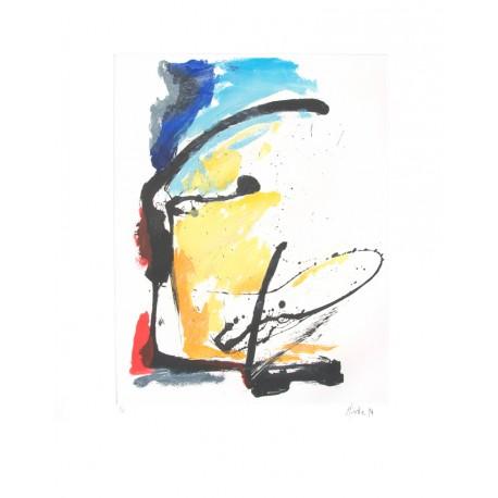 COMPOSITION N°7 / Gravure de Jean Miotte / Détail