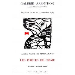 """""""Les portes de Craies"""" à la galerie Arenthon - Affiche Pierre Alechinsky"""