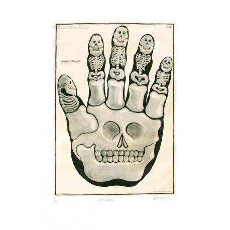La main gravure originale de Hervé Dirosa