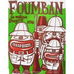 Foumban affiche en lithographie d'Hervé Di Rosa