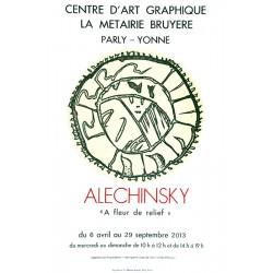 À fleur de relief - Affiche Pierre Alechinsky