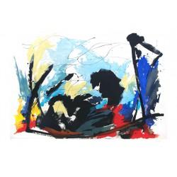 ALCIBIADE grande gravure de Jean Miotte
