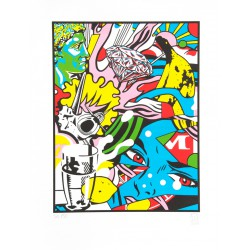 DIAMOND DREAM lithographie de Speedy Graphito