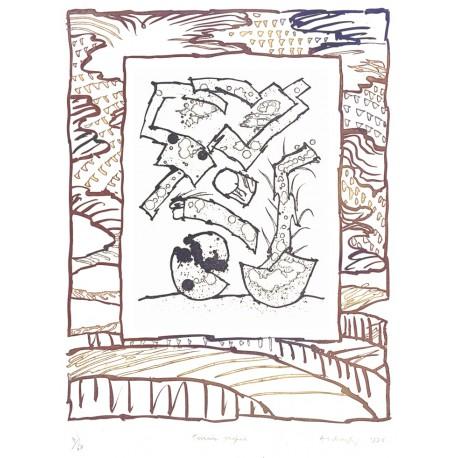 TERRAIN PROPICE Gravure de Pierre Alechinsky