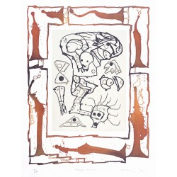 TERRAIN MEUBLE Gravure de Pierre Alechinsky