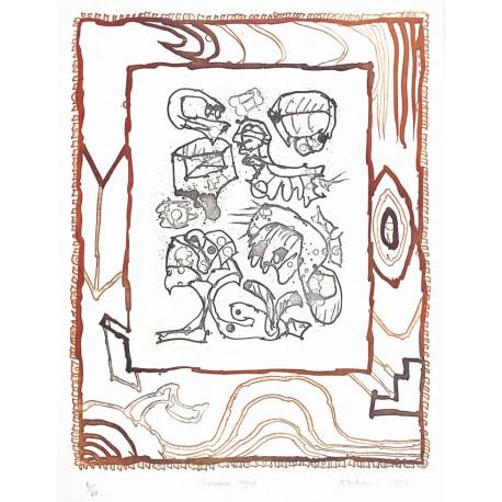 TERRAIN VAGUE Gravure de Pierre Alechinsly