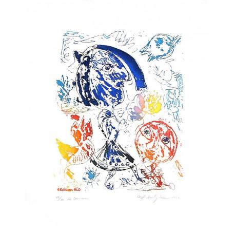 Les danseurs - Gravure de Carl-Henning Pedersen