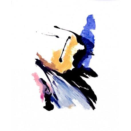 COMPOSITION N°6 gravure originale Jean Miotte