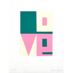 LOVE / Gravure sur bois / Damien Poulain
