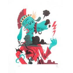 CRISE D'ARBORESCENCE / Fils De Labranche / Lithographie de Mister Pee