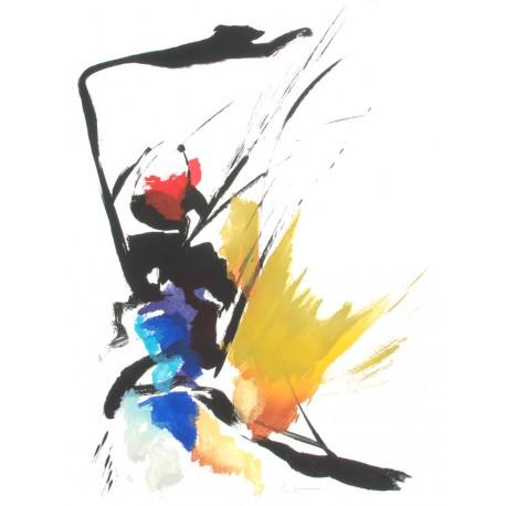 AUX 4 VENTS, gravure de Jean Miotte