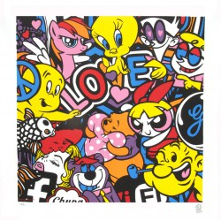 Love lithographie de Speedy Graphito