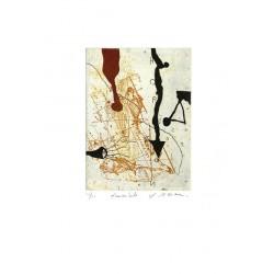 Funambule - Gravure de Richard Texier