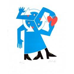 ARLETTE / Grand-Mère Plouc, lithographie de Clet